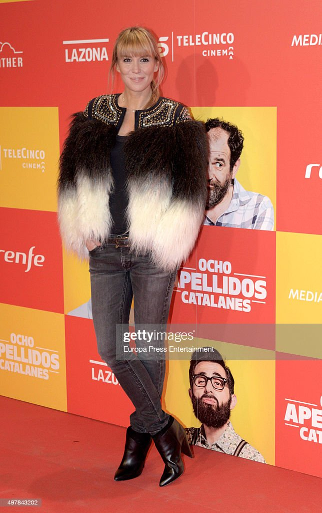 Raquel Merono attends 'Ocho Apellidos Catalanes' premiere at Capitol cinema on November 18 2015 in Madrid Spain
