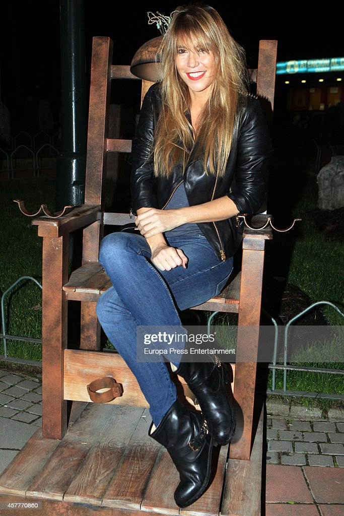 Raquel Merono attends the Halloween Party at El Parque de Atracciones on October 23 2014 in Madrid Spain