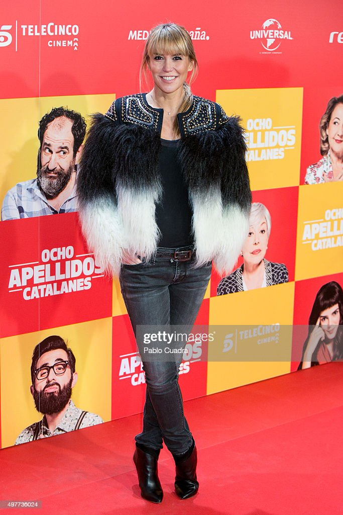 Raquel Merono attends the 'Ocho Apellidos Catalantes' Premiere at capitol Cinema on November 18 2015 in Madrid Spain