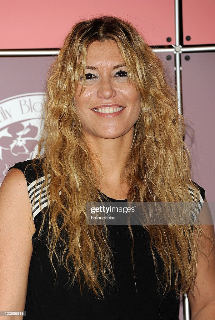 Raquel Merono attends the opening of 'Lily Blossom' lingerie boutique on July 14 2010 in Madrid Spain