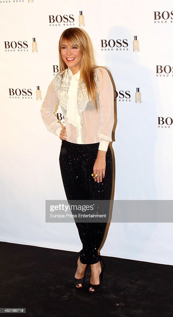 Raquel Merono attends the party for 15th anniversary of Boss Bottled fragance for men at Eurostars Hotel on November 26 2013 in Madrid Spain