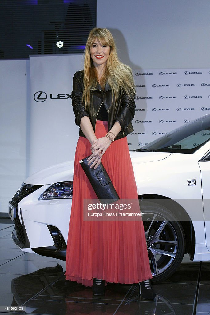 Raquel Merono attends the presentation of Lexus CT 200h Hibrid on April 1 2014 in Madrid Spain