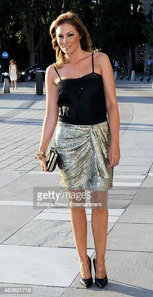 Raquel Rodriguez attends Alejandro Fernandez concert on July 23 2014 in Madrid Spain