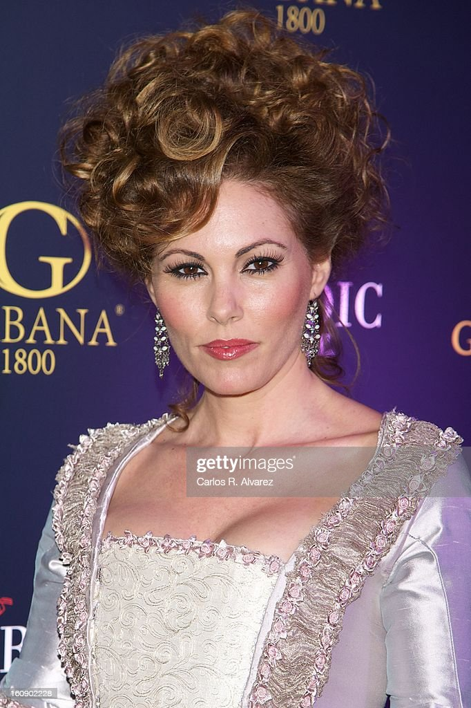Raquel Rodriguez attends 'Carnaval 2013' party at Gabana Club on February 7, 2013 in Madrid, Spain.