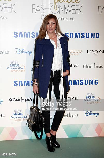 Raquel Rodriguez attends Petite Fashion Week In Madrid on November 14 2014 in Madrid Spain