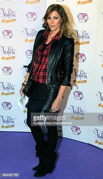 Raquel Rodriguez attends the concert of Argentine singer Martina Stoessel 'Violetta' on Disney Channel on December 8 2013 in Madrid Spain