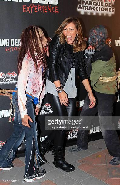 Raquel Rodriguez attends the Halloween Party at El Parque de Atracciones on October 23 2014 in Madrid Spain
