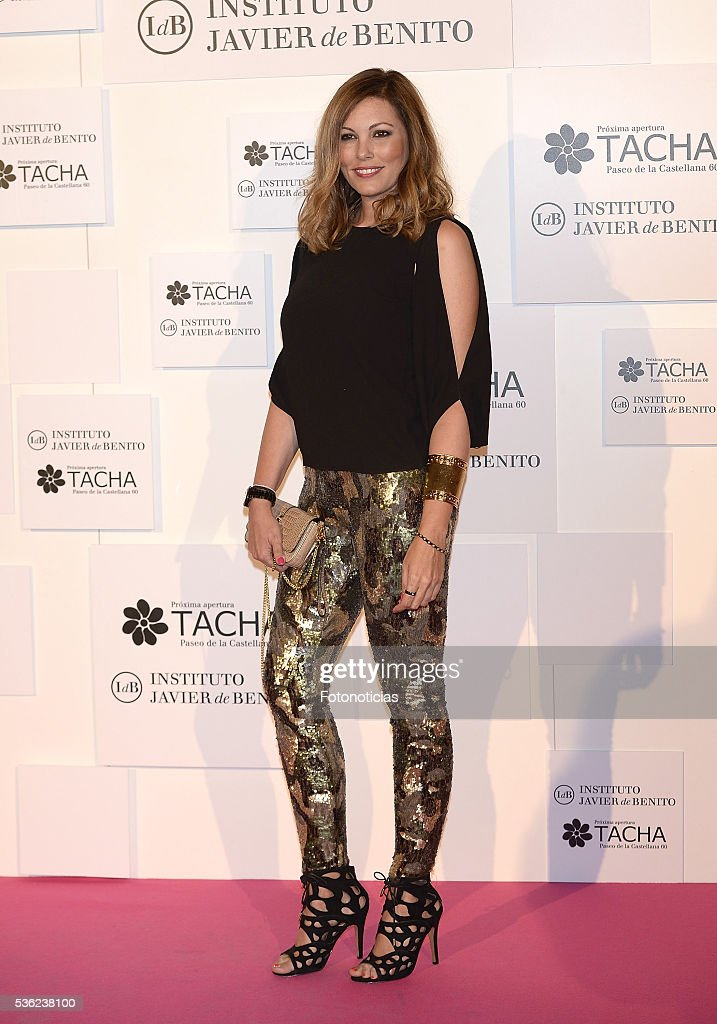 Raquel Rodriguez attends the Tacha Beauty and Javier de Benito Institute party at the Palacio de Santa Coloma on May 31, 2016 in Madrid, Spain.