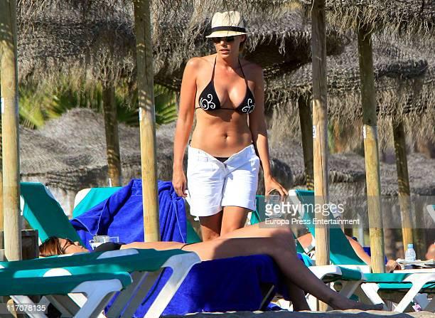 Raquel Rodriguez is seen sighting on June 21 2011 in Marbella Spain