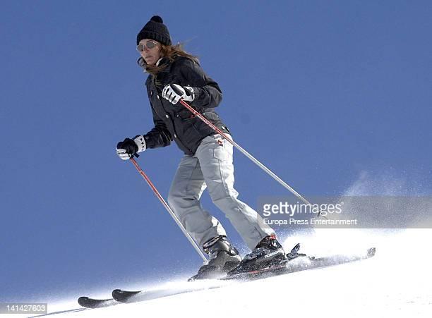 Raquel Rodriguez is seen skiing on March 10 2012 in Granada Spain