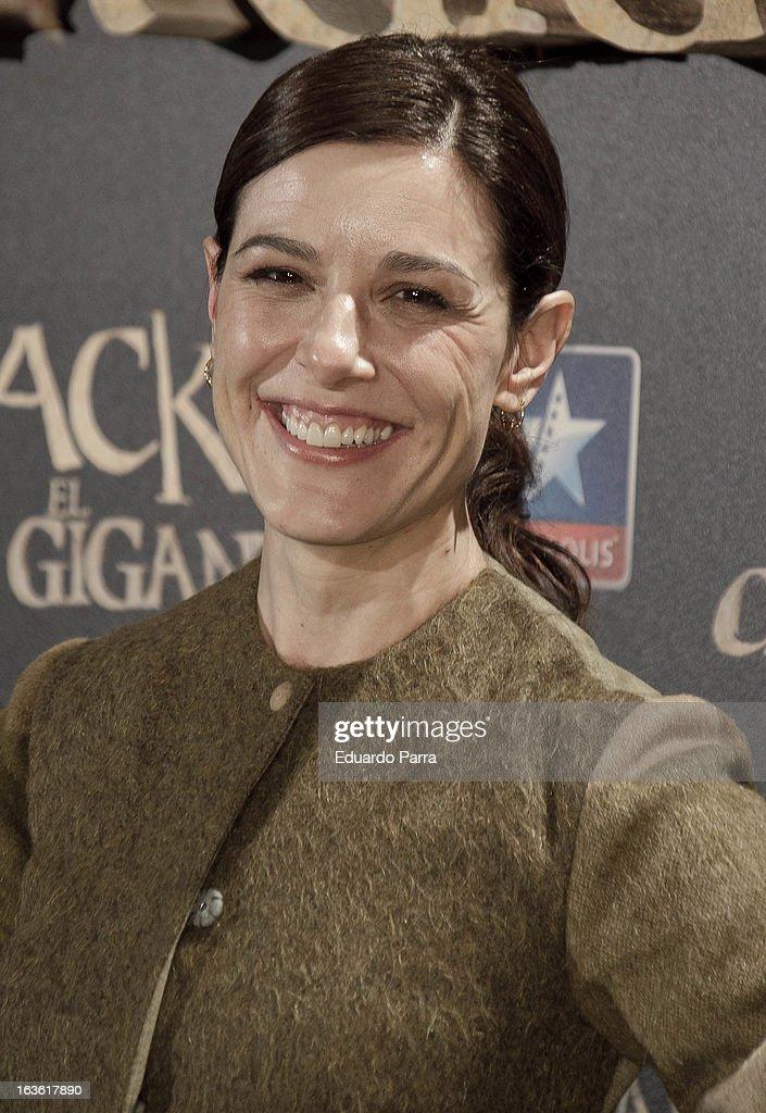 Raquel Sanchez Silva attends 'Jack el Caza Gigantes' premiere photocall at Kinepolis cinema on March 13, 2013 in Madrid, Spain.