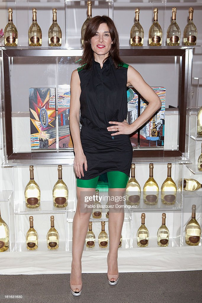 Raquel Sanchez Silva attends 'Ruinart' Party at Marlborough Gallery on February 13, 2013 in Madrid, Spain.