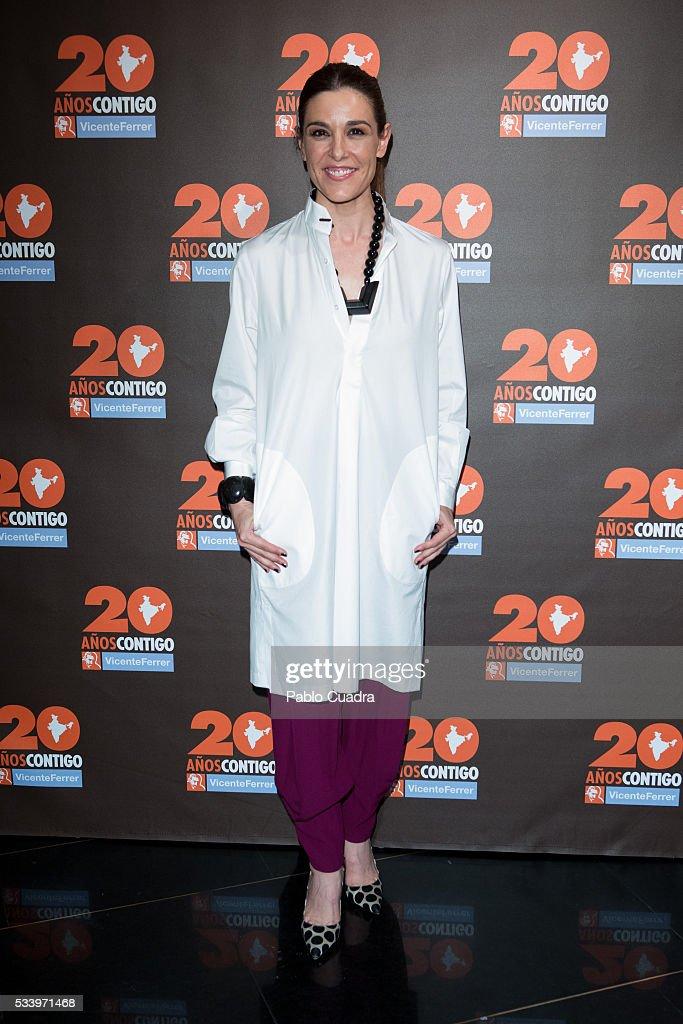 Raquel Sanchez Silva attends the 'Vicente Ferrer' Foundation 20th Anniversary photocall at the 'Palacio de la Prensa' Cinema on May 24, 2016 in Madrid, Spain.
