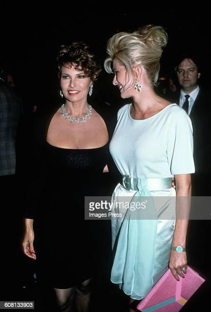 Raquel Welch and Ivana Trump circa 1990 in New York City