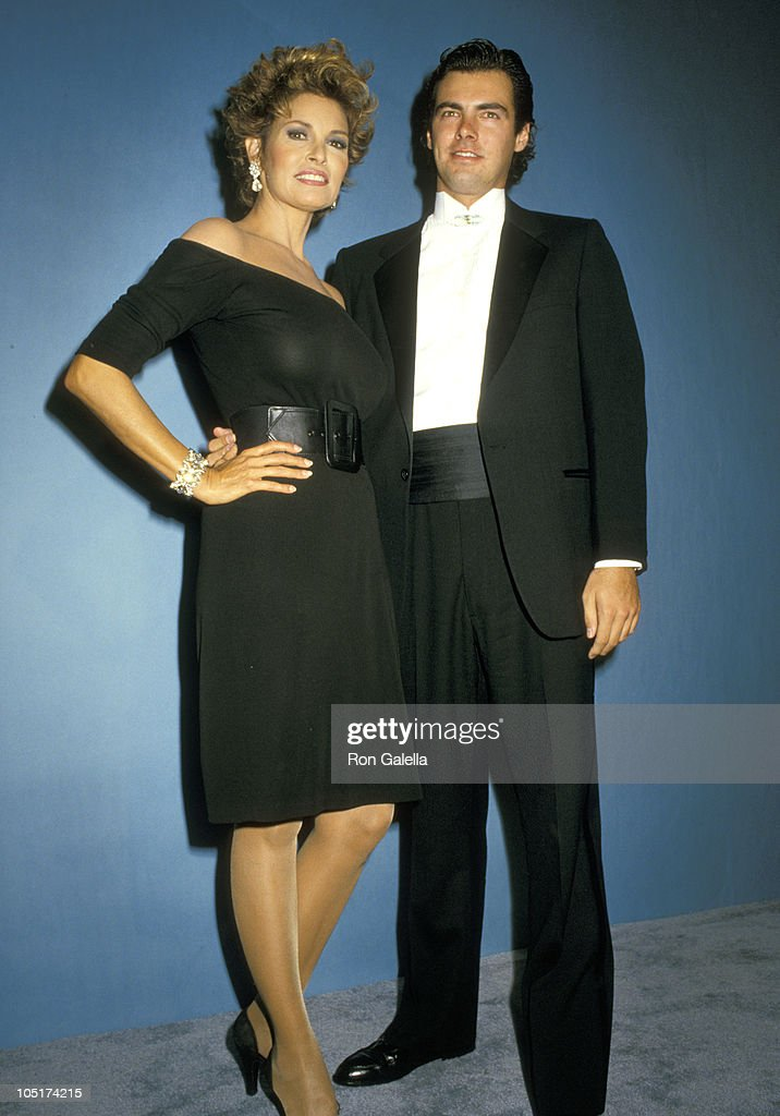 Raquel Welch and Son Damon Welch during 39th Annual Emmy Awards - September 20, 1987 at Pasadena Civic Auditorium in Pasadena, California, United States.