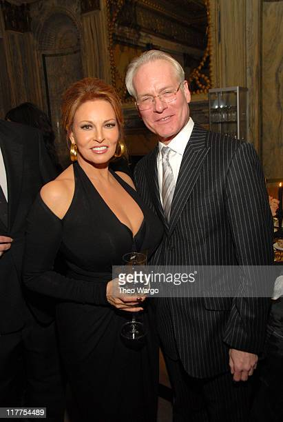 Raquel Welch and Tim Gunn during M·A·C Cosmetics Honors Brunette Bombshell and Eternal Screen Siren Raquel Welch as Beauty Icon at Gilt The New York...