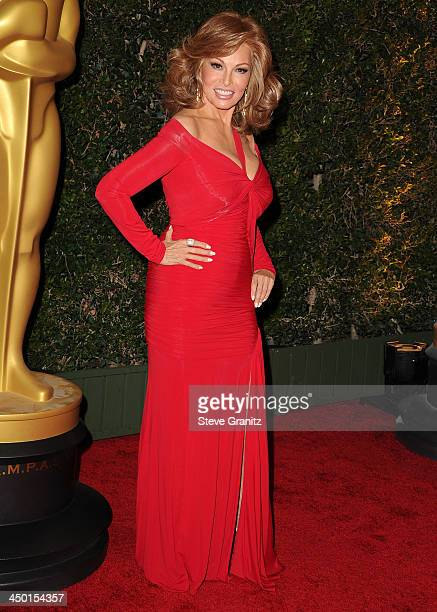 Raquel Welch arrives at the The Board Of Governors Of The Academy Of Motion Picture Arts And Sciences' Governor Awards at Dolby Theatre on November...