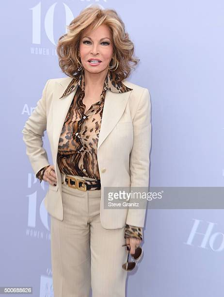 Raquel Welch arrives at the The Hollywood Reporter's Annual Women In Entertainment Breakfast at Milk Studios on December 9 2015 in Los Angeles...