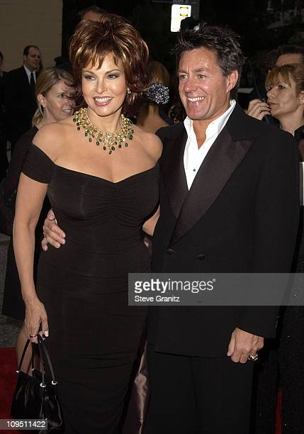 Raquel Welch husband during The 2002 ALMA Awards Arrivals at The Shrine Auditorium in Los Angeles California United States