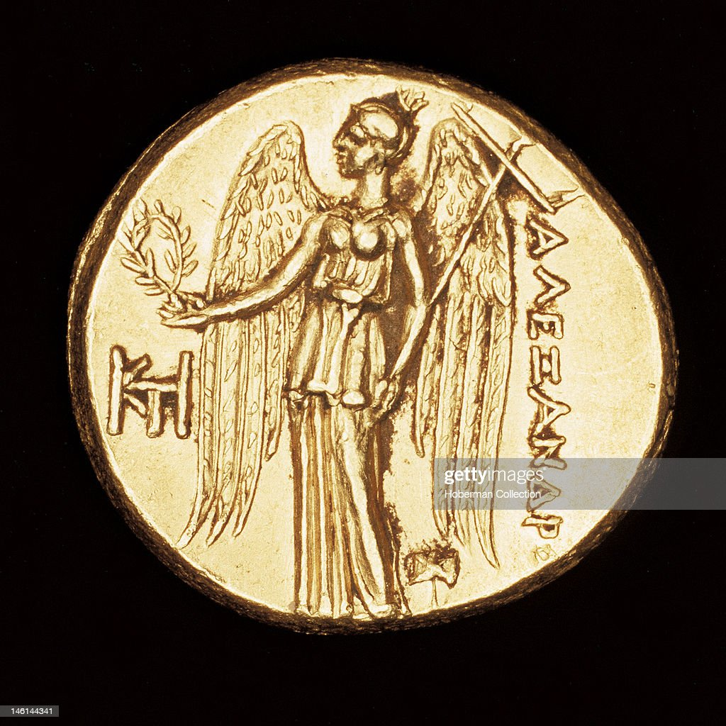 rare ancient greek coin gold stater reverse nike goddess of