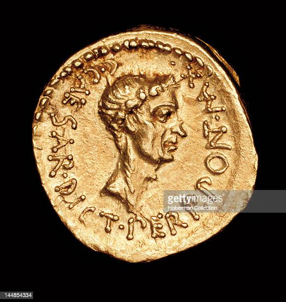 Rare Ancient Roman Coin Roman Gold Aereus Julius Caesar c 43 BC minted in Cisalpine Gaul