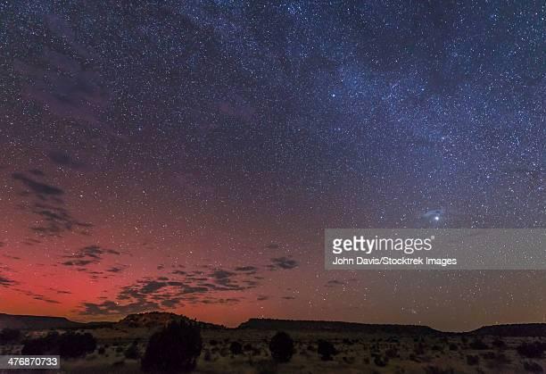 A rare aurora display over Black Mesa, Okalahoma, USA.