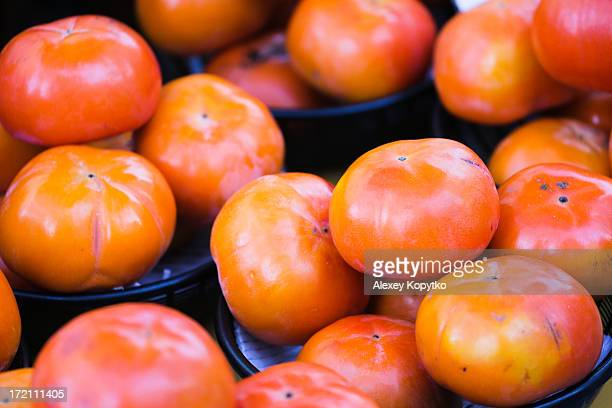 Rare delicious persimmon at a street market