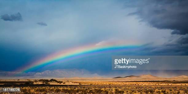 A rare desert rainbow over Death Valley, CA