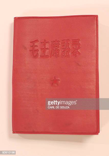 A rare earliest version of the Little Red Book or Quotations of Chairman Mao which was compiled and printed in 1963 by the Political Department Air...