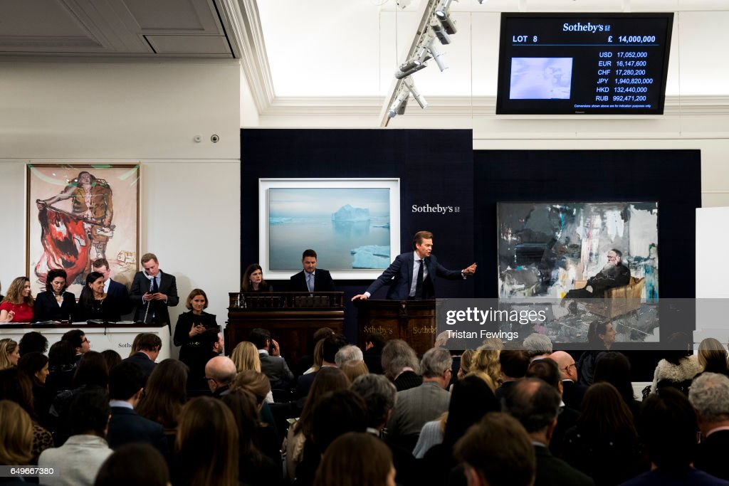 Contemporary Art Auction At Sotheby's London