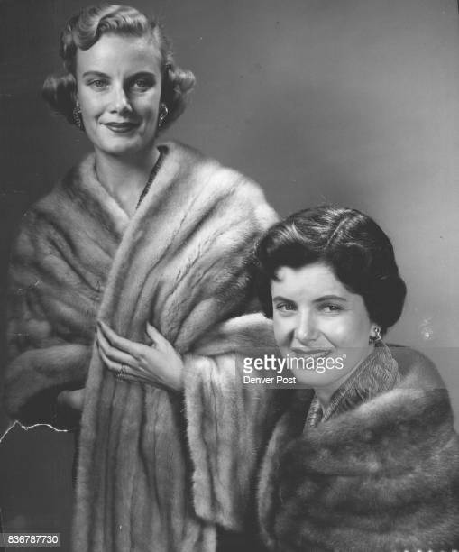 Rare pelts of opulent mink are shown in 'heart's desire' styles called 'little furs' which grace feminine shoulders with important glamour The...