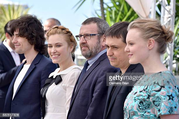 Rares Andrici Malina Manovici Adrian Titieni Crisitan Mungiu and Maria Dragus attend the 'Graduation ' Photocall during the 69th annual Cannes Film...