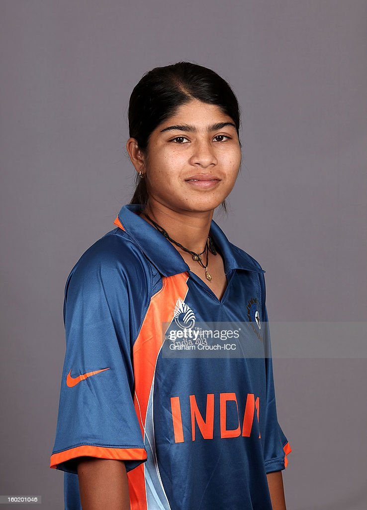 Rasanara Parwin of India poses at a portrait session ahead of the ICC Womens World Cup 2013 at the Taj Mahal Palace Hotel on January 27, 2013 in Mumbai, India.