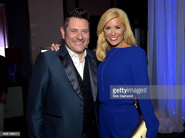 Rascal Flatts' Jay DeMarcus and Allison DeMarcus attend the TJ Martell Foundation's 7th Annual Nashville Honors Gala at Omni Hotel Downtown on March...