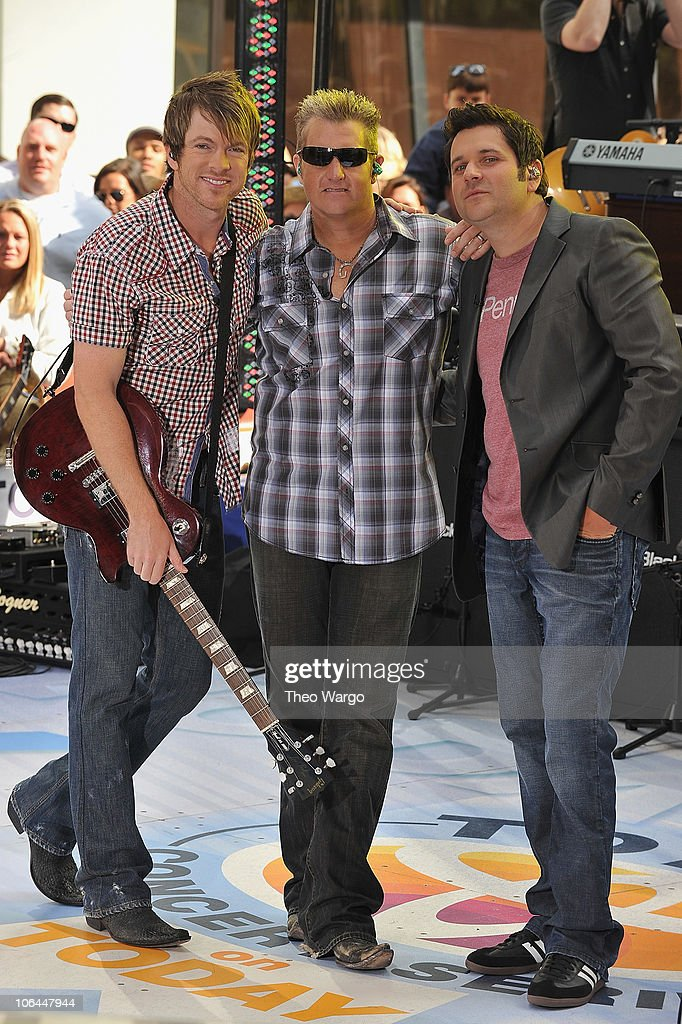 Rascal Flatts perform on NBC's 'Today' in Rockefeller Center on June 11, 2010 in New York City.