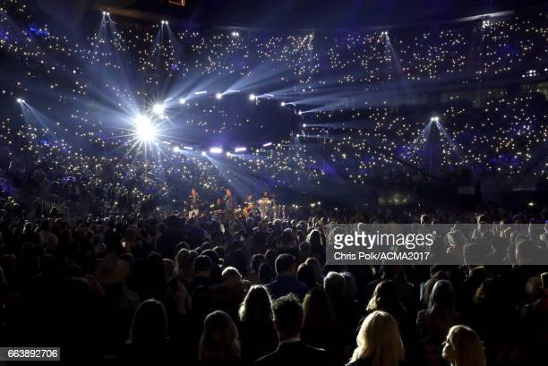 Rascal Flatts perform onstage during the 52nd Academy of Country Music Awards at TMobile Arena on April 2 2017 in Las Vegas Nevada