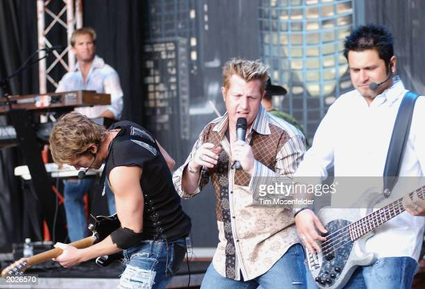Rascal Flatts performing part of the 'Neon Circus Wild West Tour' on May 23 2003 at Shoreline Amphitheatre Mountain View California