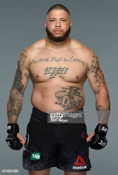 Rashad Coulter poses for a portrait during a UFC photo session on November 15 2017 in Sydney Australia
