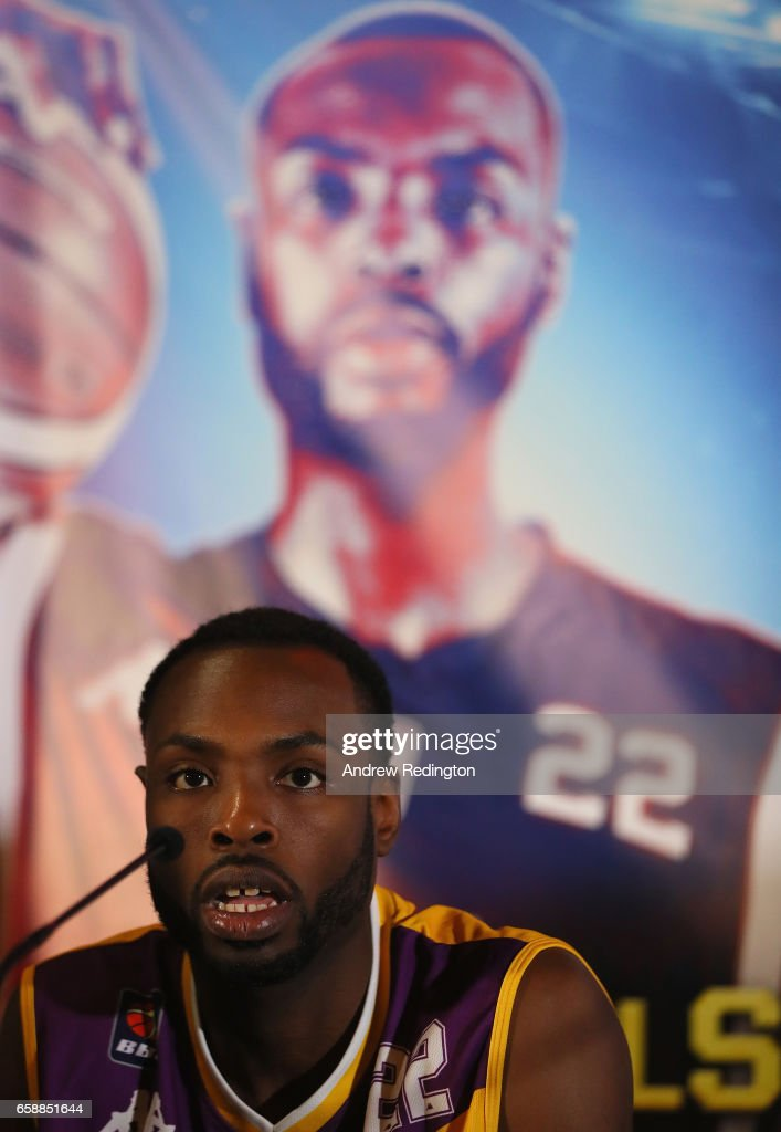Rashad Hassan (London Lions) is pictured during an announcement by Barry Hearn and Matchroom Sport on March 28, 2017 at the O2 in London, England.