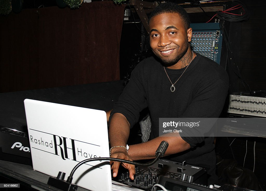 Rashad Hayes spins at DJ Webstar's birthday party at Greenhouse on October 27 2009 in New York City