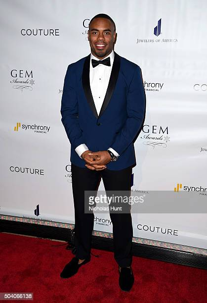 Rashad Jennings attends 2016 GEM Awards Gala at Cipriani 42nd Street on January 8 2016 in New York City