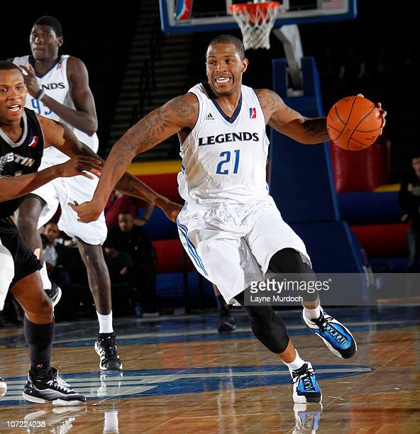 Rashad McCants of the Texas Legends drives against the Austin Toros in an NBA DLeague game on November 30 2010 at the Dr Pepper Center in Dallas...