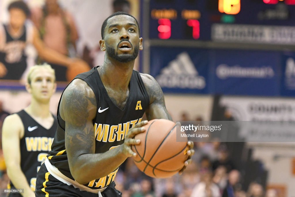 Rashard Kelly #0 of the Wichita State Shockers takes a foul shot during a the championship of the Maui Invitational college basketball game against the Notre Dame Fighting Irish at the Lahaina Civic Center on November 22, 2017 in Lahaina, Hawaii. The Fighting Irish won 67-66.