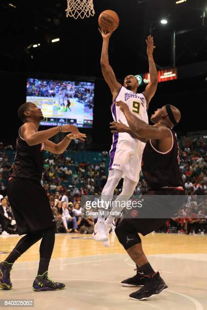 Rashard Lewis of 3 Headed Monsters during the BIG3 three on three basketball league championship game on August 26 2017 in Las Vegas Nevada