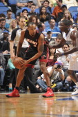 Rashard Lewis of the Miami Heat looks to pass the ball against the Orlando Magic during the game on November 20 2013 at Amway Center in Orlando...
