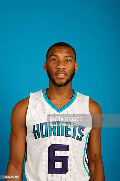 Rasheed Sulaimon of the Charlotte Hornets poses for a head shot during the 20162017 Charlotte Hornets Media Day at the Time Warner Cable Arena on...
