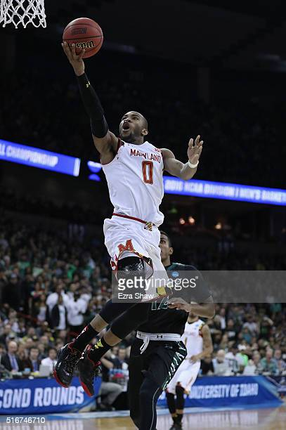 Rasheed Sulaimon of the Maryland Terrapins goes up for a shot against the Hawaii Warriors in the second half during the second round of the 2016 NCAA...