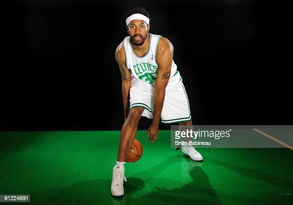 Rasheed Wallace of the Boston Celtics poses for a portrait during the 2009 NBA Media Day on September 28 2009 at Healthpoint in Waltham Massachusetts...