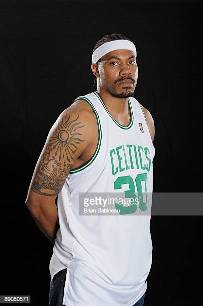 Rasheed Wallace of the Boston Celtics poses for portraits on July 7 2009 at the Boston Celtics Practice Facility in Waltham Massachusetts NOTE TO...
