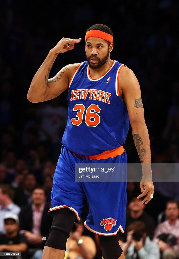 Rasheed Wallace #36 of the New York Knicks in action against the Brooklyn Nets at Barclays Center on December 11, 2012 in the Brooklyn borough of New York City.The Knicks defeated the Nets 100-97.